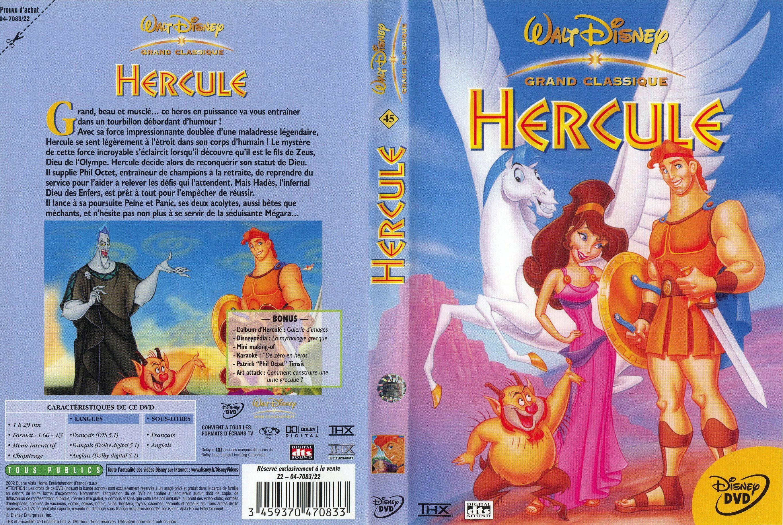 Les différentes éditions vidéos du film Hercule